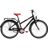 """Crescent 26"""" 7-vxl flickcykel komplett med lås,belysning, godkänt lås och i denna läkra cykel färg svart."""