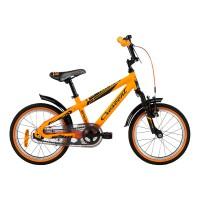 """barncykel från Crescent 16"""" pojk bmx i en härlig orange färg och kallas för brokk årsmodell 2014"""