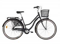 Monark kampanj cykel med 3-vxl och fotbroms och är fullt utrustad med godkänt lås, korg och belysning.