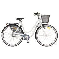 Sjösala damcykel med 8-vxl och fotbroms med aluminium ram, godkänt lås och belysning.