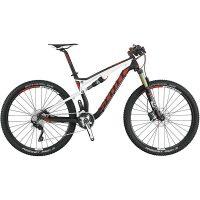 Heldämpad cross country cykel med carbon ram med bra växlar.
